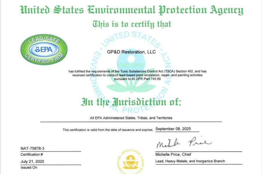 GP&D EPA Certified to 2025